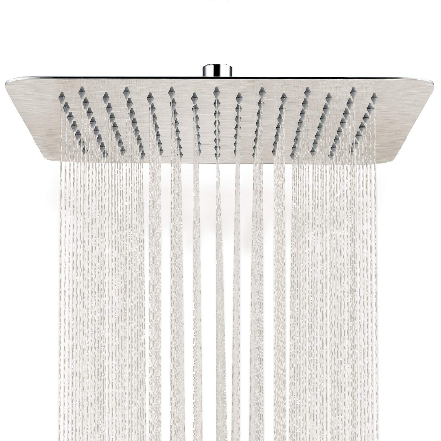 SR SUN RISE 12 Inch Rain Shower Head Brushed Nickel 304 Stainless Steel High Pressure Rainfall Showerhead Ultra Thin Water Saving