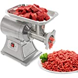 Ensue Commercial 1100W Electric Meat Grinder 1HP Mincer Stainless Steel (FDA Certificated) #12 Grinder Size Grinding Cutting Blades