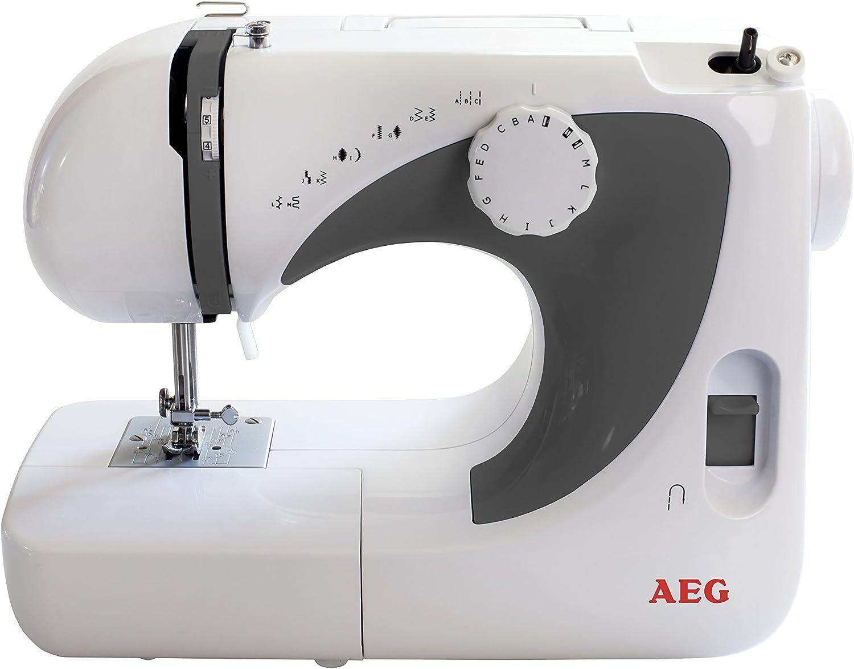 AEG NM-105 - Máquina de coser con brazo libre, color blanco y gris ...
