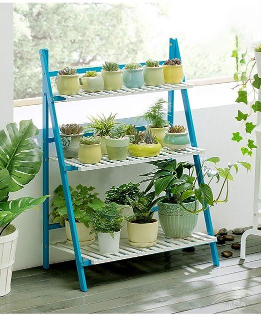 SADDPA Puesto de Flores Soporte de la Planta de Maceta, Flor Plataforma escaleras Diseño Soporte de múltiples Capas Flor Ideal para hogar Interiores Aire Libre 96x40x70CM: Amazon.es: Hogar