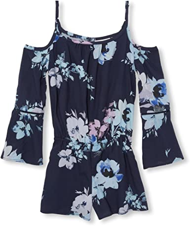 The Childrens Place Big Girls Floral Woven Romper