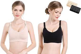 Nursing Bra,Women's Full Bust Seamless Maternity Bra & Breastfeeding Breathable Sleeping Bra