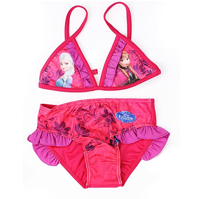 49c7bbee2050 Frozen Disney - Costume Bikini 2 Pezzi Mare Piscina - Bambina - Elsa e Anna  -