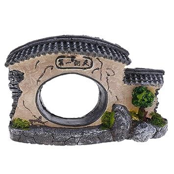 Homyl Tanque Acuario Paisajismo Antiguo Hundido Templo Decoración Pecera - Estilo 3: Amazon.es: Hogar