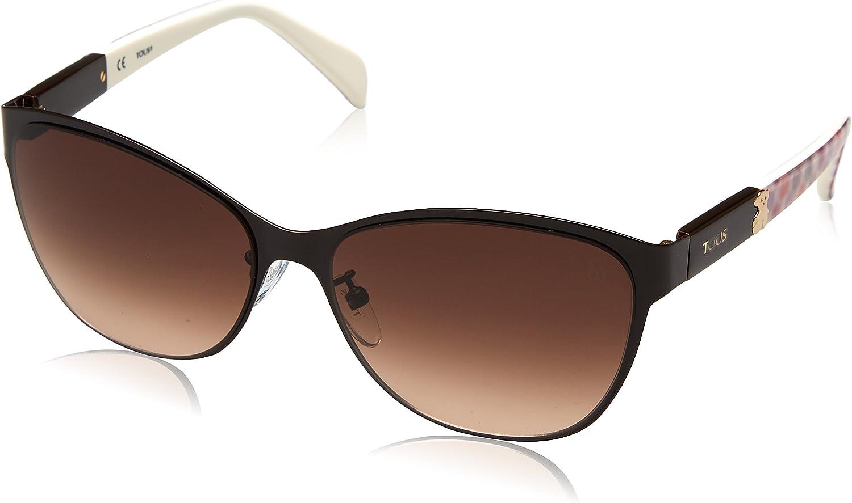 Tous STO343-580VA6 Gafas de sol, Shiny Full Brown, 58 para Mujer