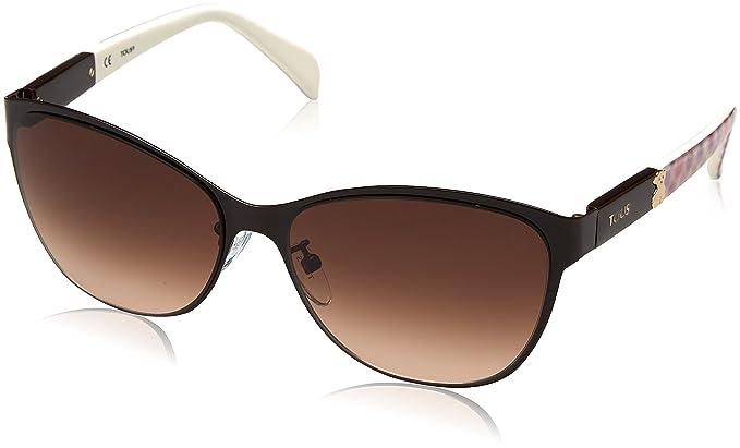 Tous STO343-580VA6, Gafas de Sol para Mujer, Shiny Full Brown, 58