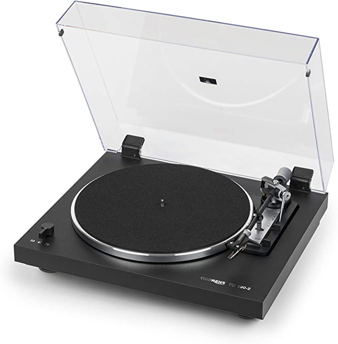 Thorens TD1902 Black Fully Automatic Three Speed Turntable