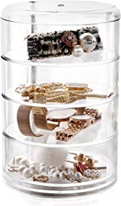 Stackable Storage Jewellery Trays Hair Accessory Containers Simple Houseware Organizer 4 Layers 7.14in