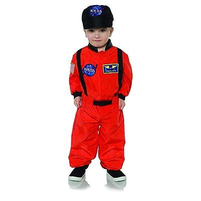 UNDERWRAPS Kid's Toddler's Astronaut - Toddler Costume Childrens Costume, Orange, Large: Clothing
