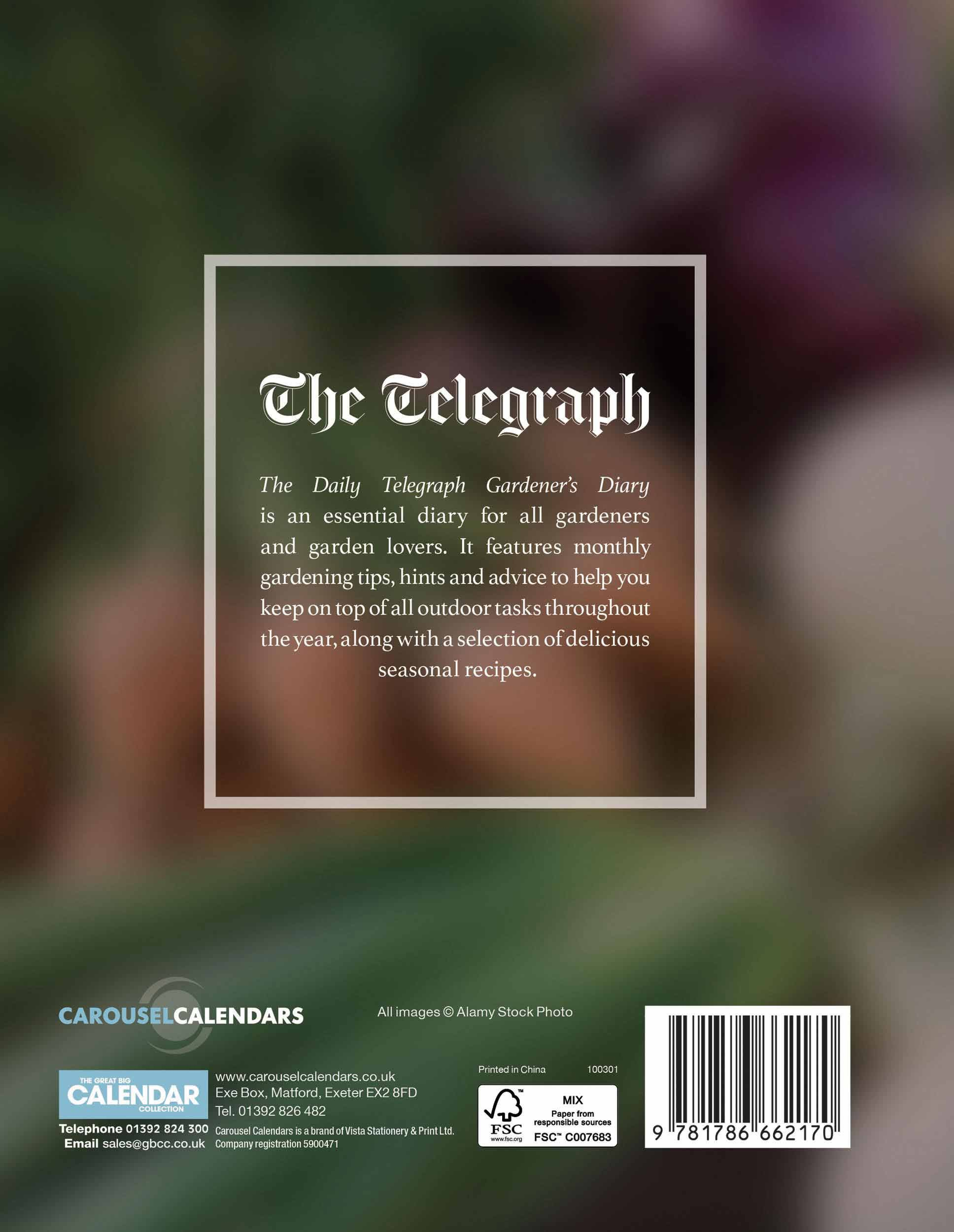 Daily Telegraph Gardeners 2018 Dlx D Diary Engagement: Amazon.co.uk ...