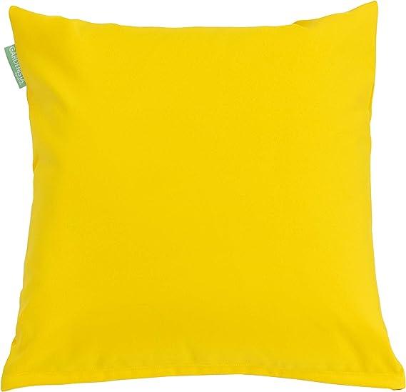 per esterni confezione da 2 18 Resistente allacqua -Cuscino imbottito 45,72 cm colore: giallo