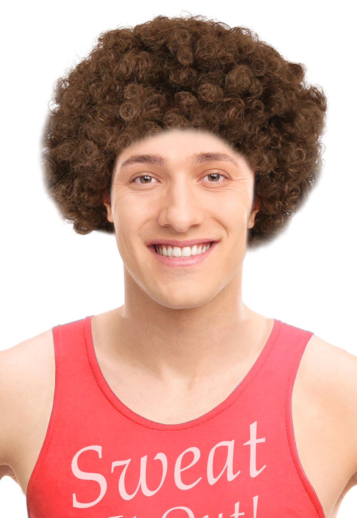richard simmons costume. workout instructor wig for richard simmons ideal costume m