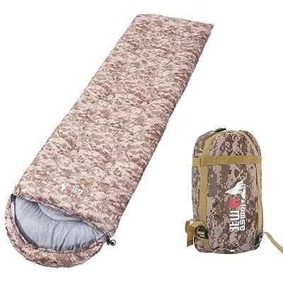 À l'extérieur Camping Sacs de couchage Durable Camouflage Enveloppe Sacs de couchage Échelle de température (0 ° c / 8 ° c / 15 ° c)