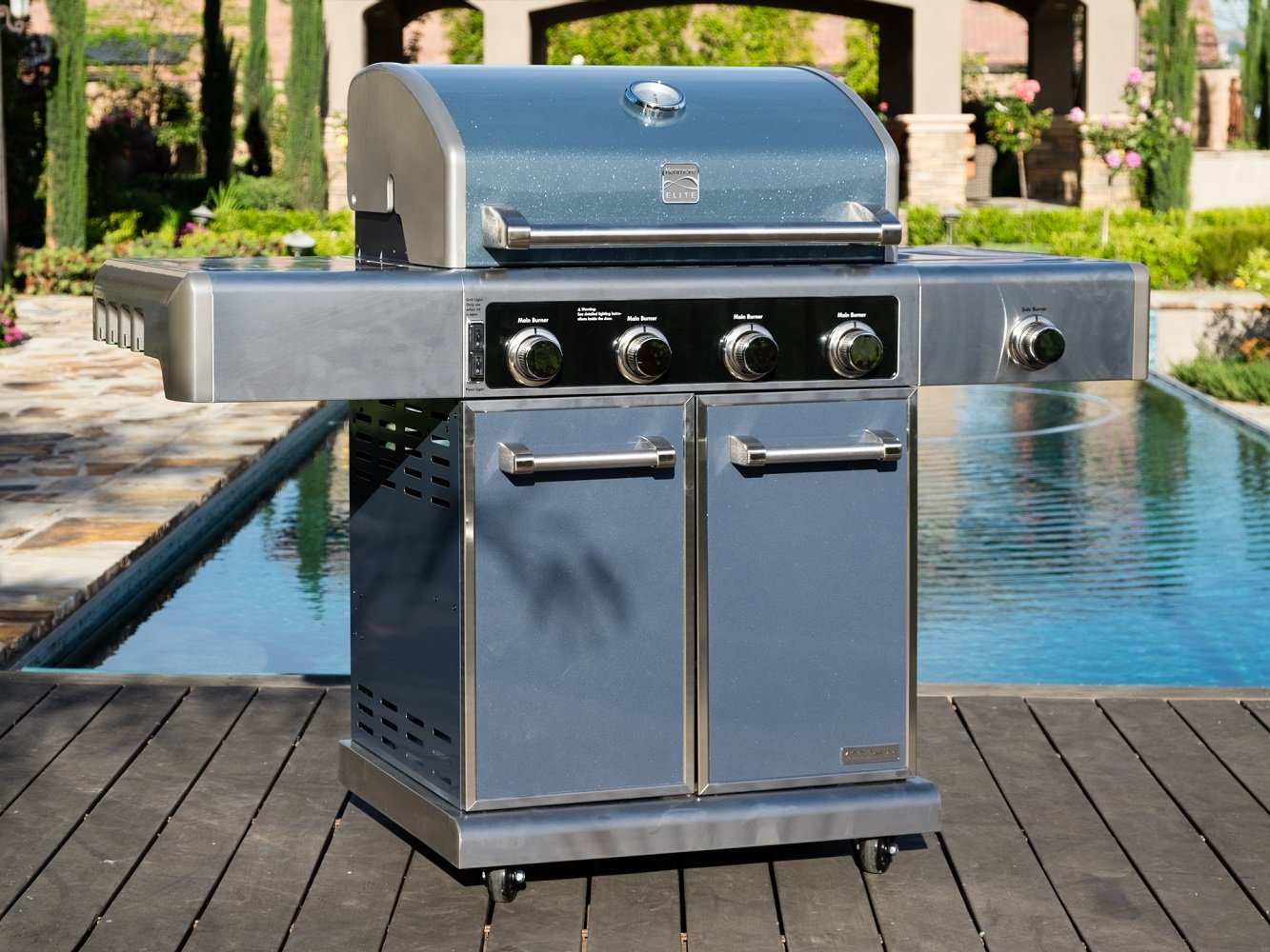 Amazon.com : KENMORE ELITE 4 Burner Grill plus Side Burner, Metallic ...