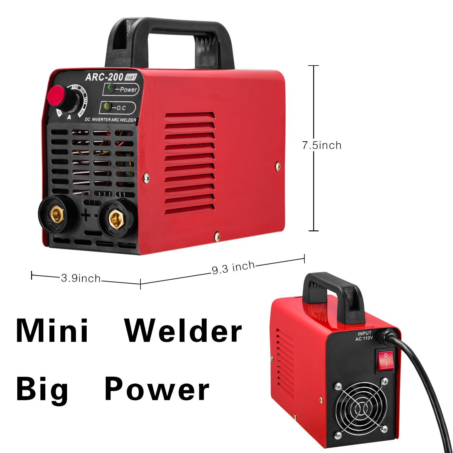 Arc Welder 110v 200a Welding Machine Igbt Inverter Dc Mini Electric Wiring Diagram Color Welders Free Accessories Tools High Frequency Household Smart For Novice