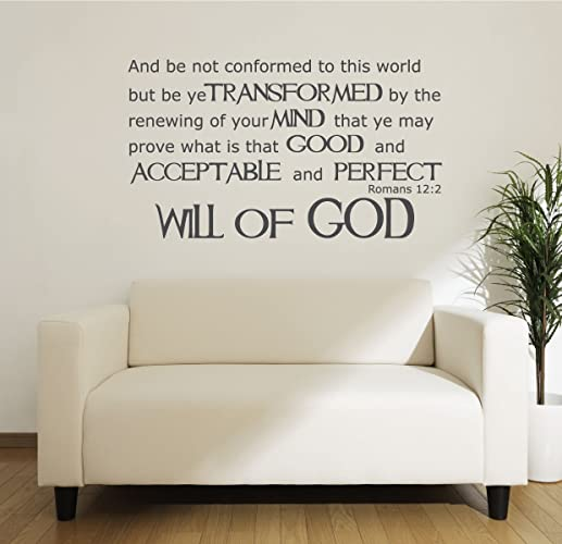 Amazon.com: Romans 12:2 - Bible Verse Wall Decals - Will of God ...