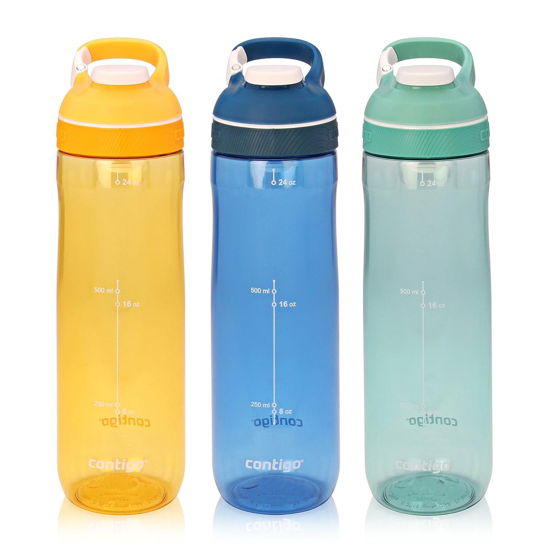 Contigo AUTOSEAL Cortland Water Bottle, 24 oz, Greyed Jade Ignite USA 70601ZCN