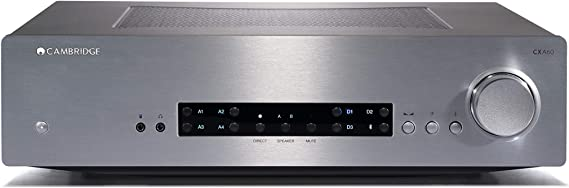 Cambridge Audio CXA60 Stereo Two-Channel Amplifier with Built-in DAC - 60 Watts Per Channel | Silver