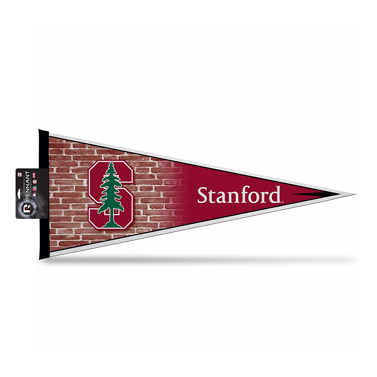 12 x 30 Multicolor Rico Industries NCAA Stanford Cardinal NCAA Pennant with Hang Card