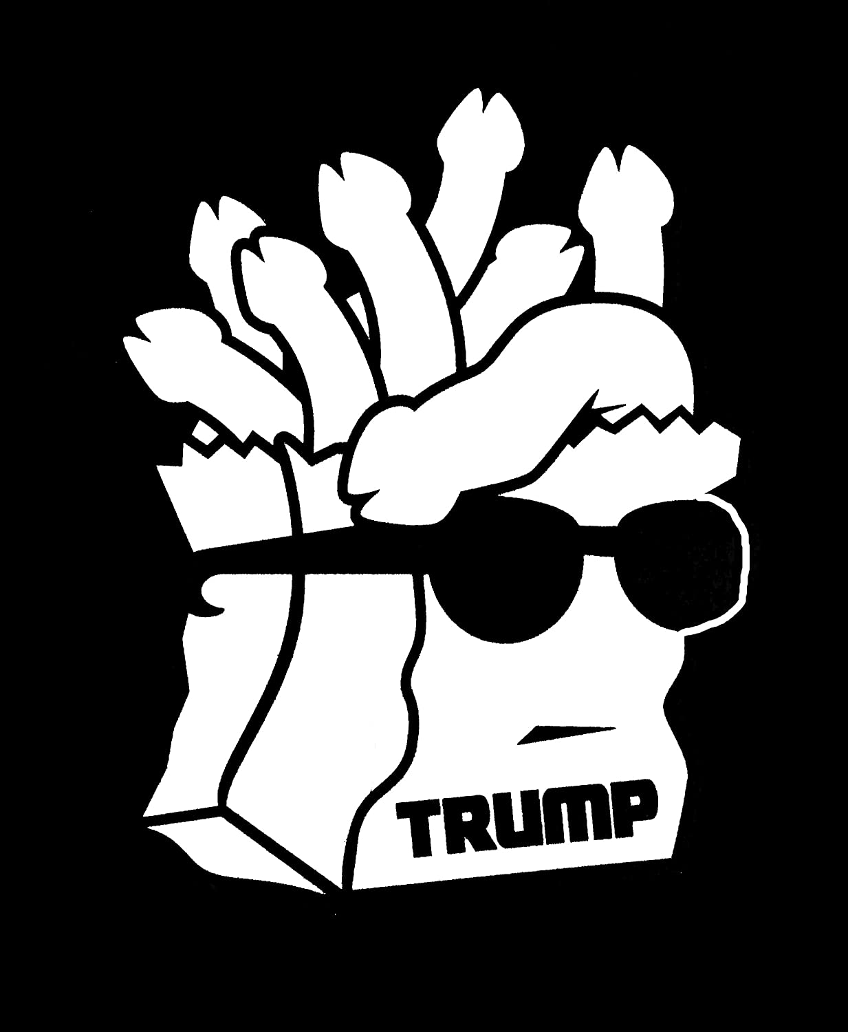 Trump Bag of Dicks Funny Decal Vinyl Sticker|Cars Trucks Vans Walls Laptop| White |5.5 x 4.3 in|DUC270