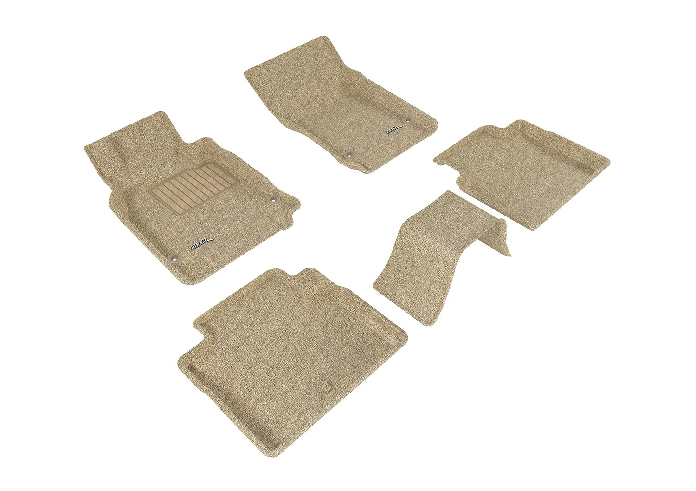 L1IN01502201 Classic Carpet Gray 3D MAXpider Complete Set Custom Fit Floor Mat for Select Infiniti M37 Models