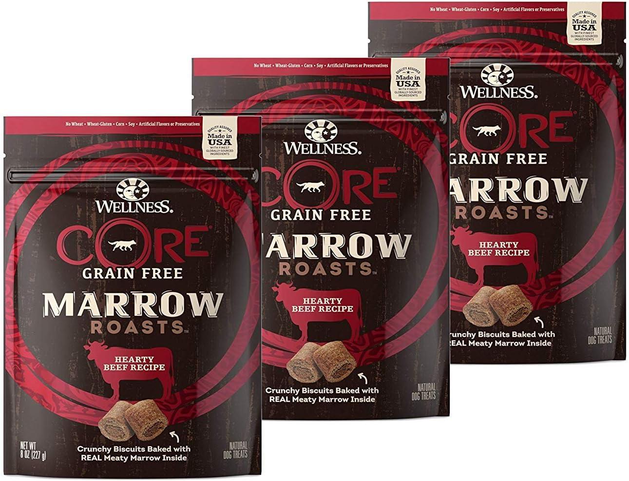 Wellness Core Marrow Roasts Natural Grain Free Dog Treats, 8-Ounce Bag
