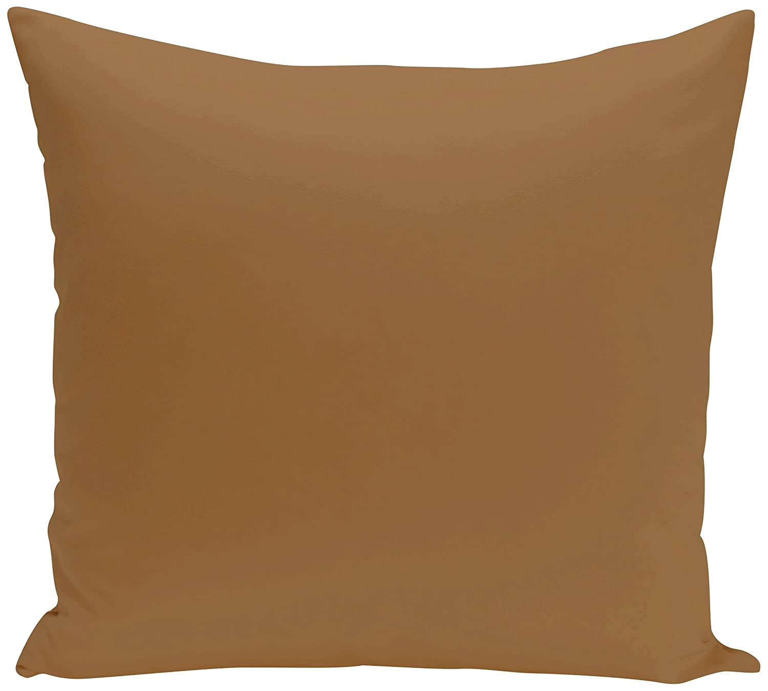 Tan 20x20 Brown E by design PSOBR3-20 20 x 20-inch Solid Print Pillow