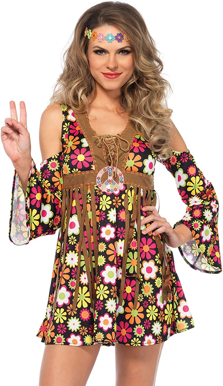 Leg Avenue Groovy Hippie 60s Costume