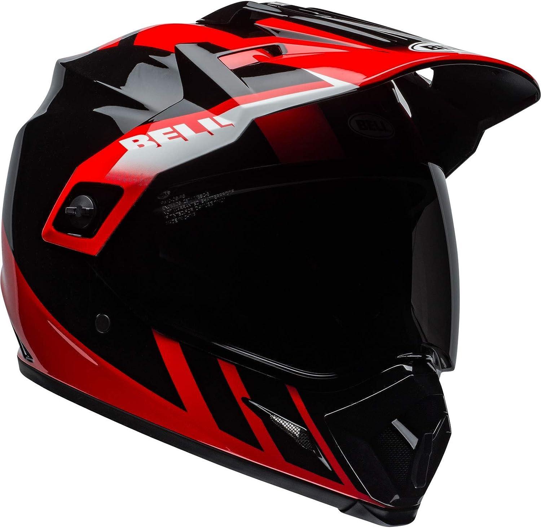 Bell Helmet Mx 9 Adventure Mips Dash Black Red White S Auto