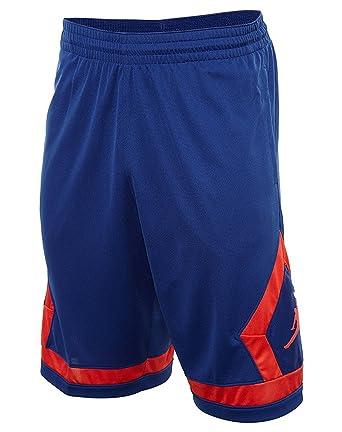 416c3f3afbee9 Nike Jordan Men's Dri-Fit Flight Diamond Basketball Shorts-Blue ...