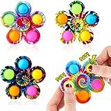 Effacera Pop Fidget SpinnerToys 4 Pack, Tie-Dye Popper Pop Bubble Spinner Set, Party Favor Sensory Fidget Bulk Pack Toys…
