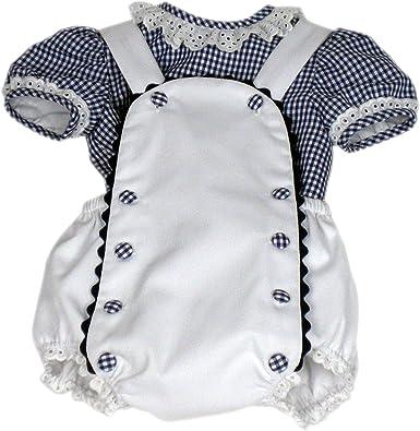 MI HIJA Y YO Camisa y Ranita de Vichy y Piqué Modelo Petín para Bebé (de 0 a 12 Meses) - Hecho a Mano - Colección Luz Marina - Excellent: Amazon.es: Ropa y accesorios