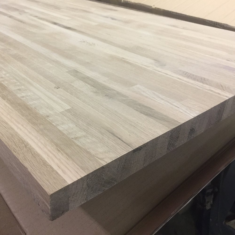 Oak Butcher Block Countertop - Custom Size - 72 Inches Length x 18 Inches Width x 1-1/8 Inches Thick