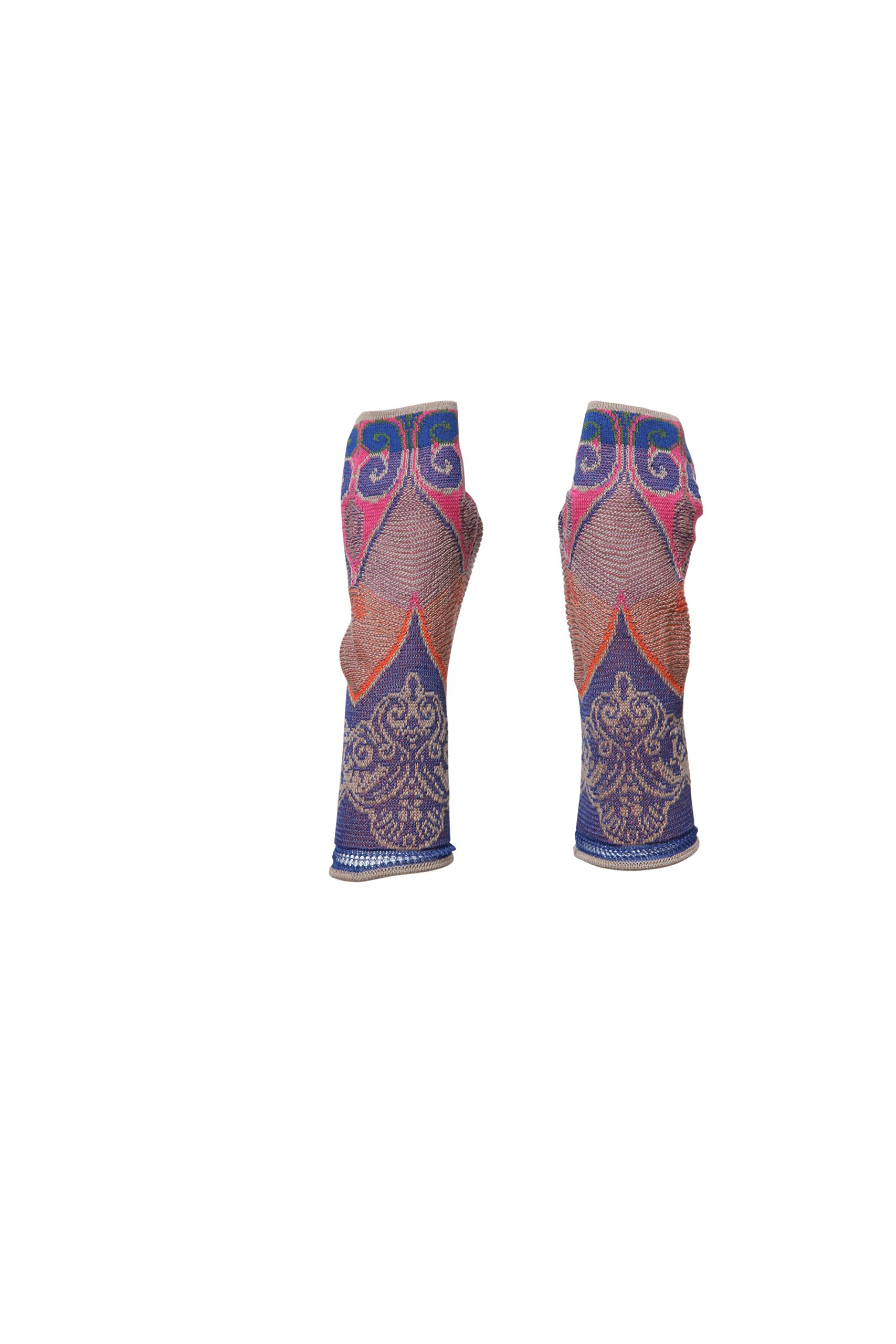 IVKO Loose Stitch, Spring Fingerless Gloves, China Blue