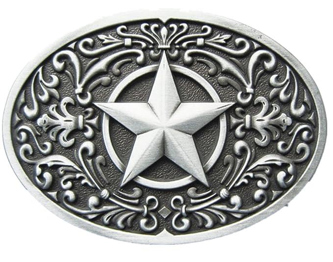 Amazon New Vintage Southwest Western Star Oval Belt Buckle Also