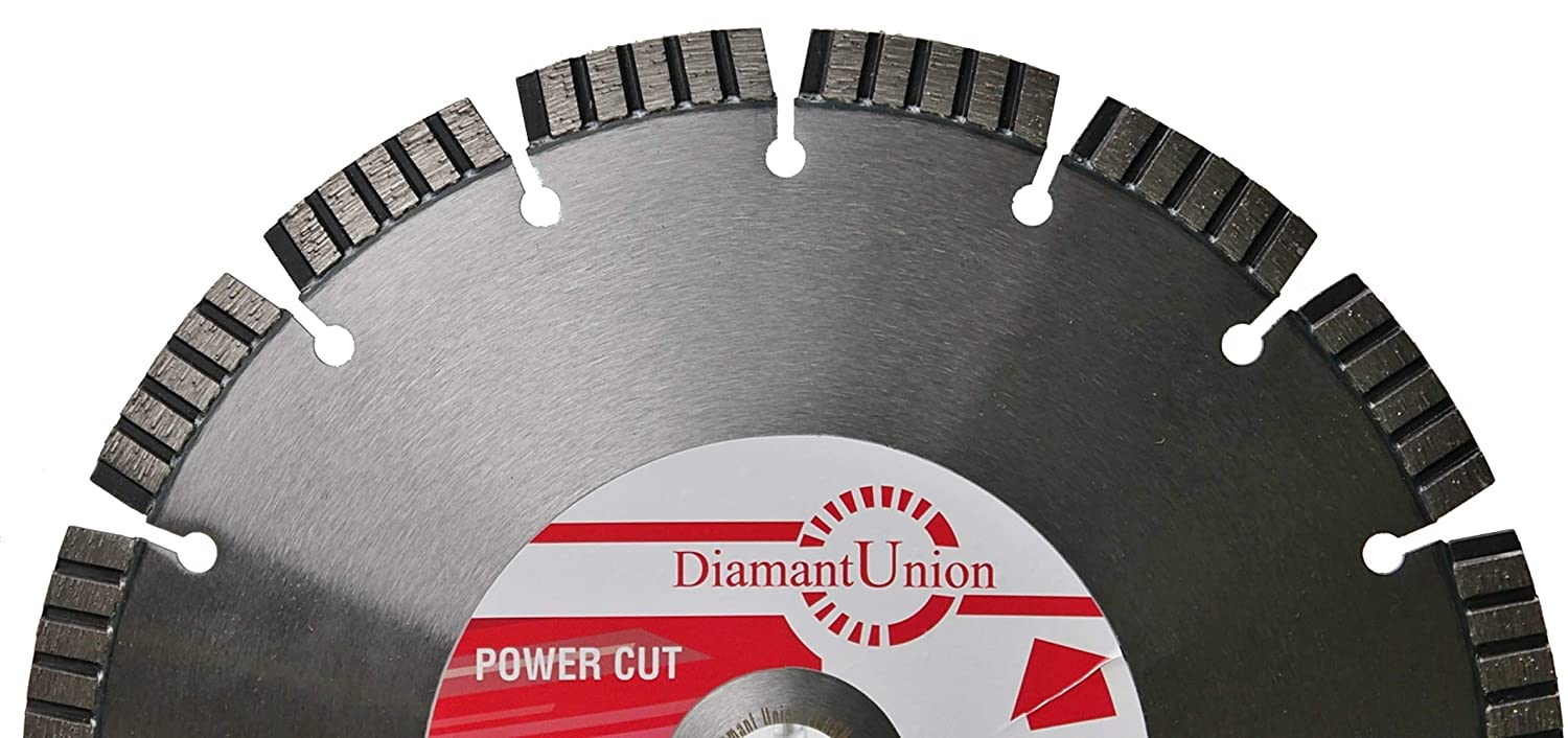 disco diamantato Power Cut calcestruzzo granito 400//25,4/ mm 10/ mm Turbo segmenti Premium