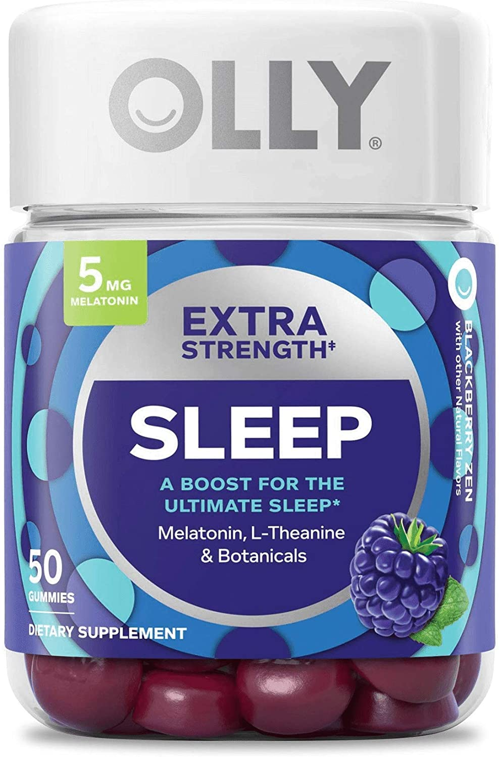Amazon Com Olly Extra Strength Melatonin Sleep Blackberry Zen