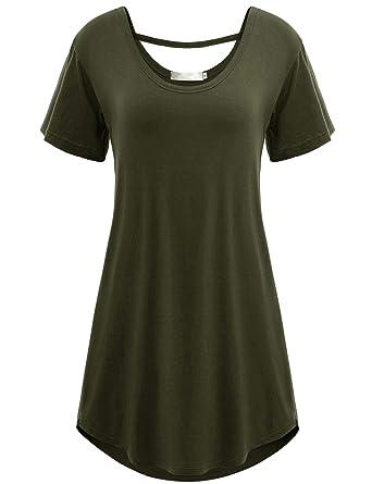 2c59b52cf57e Amashion Goodwear Army Green FRC Short Sleeve t Shirts Maternity wear bl  Tunics at Amazon Women s Clothing store