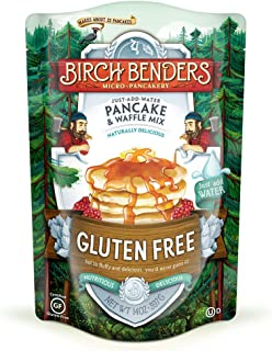 product image for Gluten-Free Pancake and Waffle Mix by Birch Benders, Made with Brown Rice Flour, Potato, Cassava, Almond, and Cane Sugar, Family Pack, Just Add Water, 14 Ounce (1-pack)