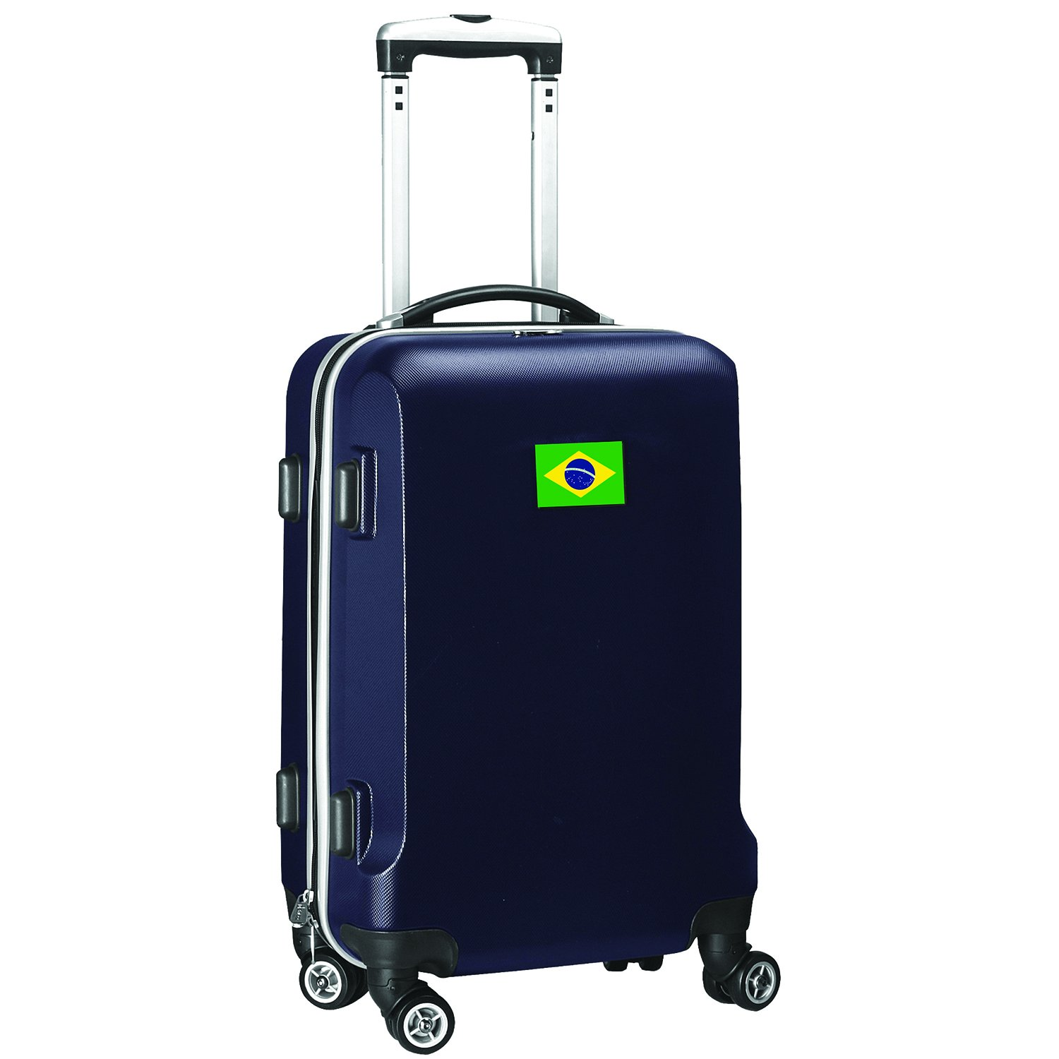 Countries of World Soccer Carry-On Hardcase Luggage Spinner Navy