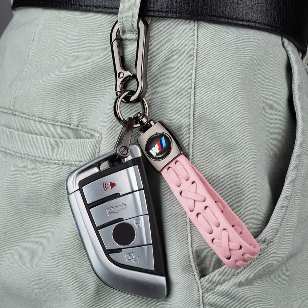 key lanyard,accessories 1Pack Leather Key Chain Suit for JEEP Jeep Wrangler Compass Cherokee Renegade Patriot Grand Commander Car Keychain key fob Keyring ,Business Gift Birthday Present