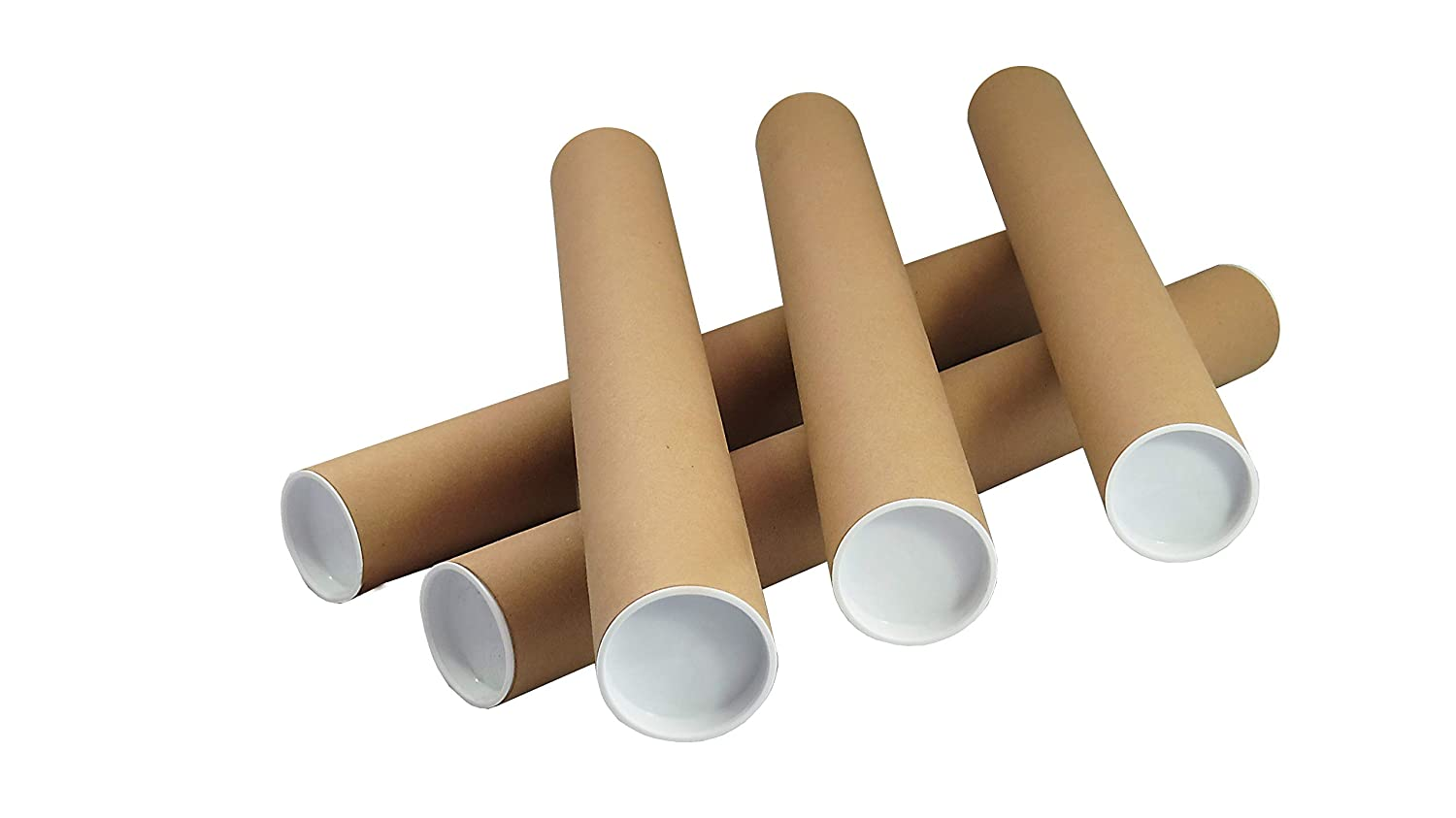 10 x A2 Quality Postal Tubes Poster 460mm x 50mm Rolls + END CAPS Globe Packaging