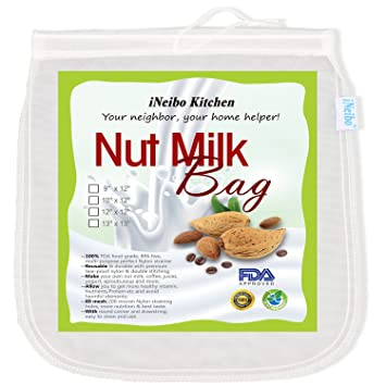 iNeibo Bolsa de leche de nuez, tela de filtración hecha de nailon resistente al desgarro. Tamaño: 25x30cm: Amazon.es: Hogar