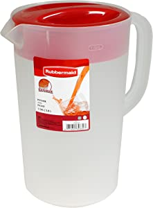 Rubbermaid Clear Pitcher, 1 Gallon (Pack of 3)