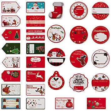 amazon com madholly 300 pieces self adhesive christmas gift tag