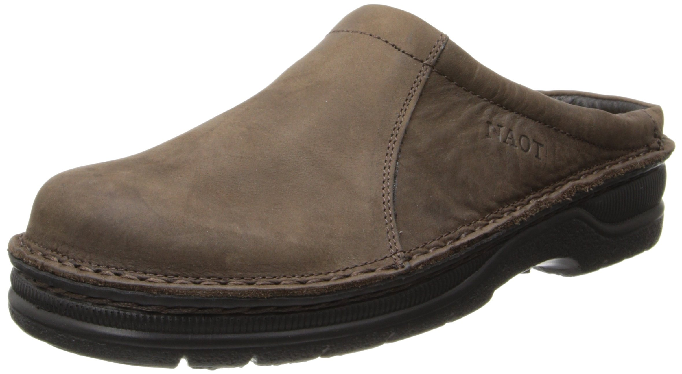 Naot Men's Bjorn Flat,Oily Brown Nubuck,43 EU/10-10.5 M US by NAOT