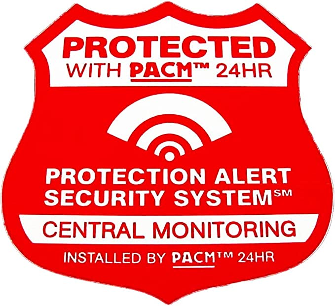 Amazon.com: 2 Home sistema de alarma de seguridad signos con ...