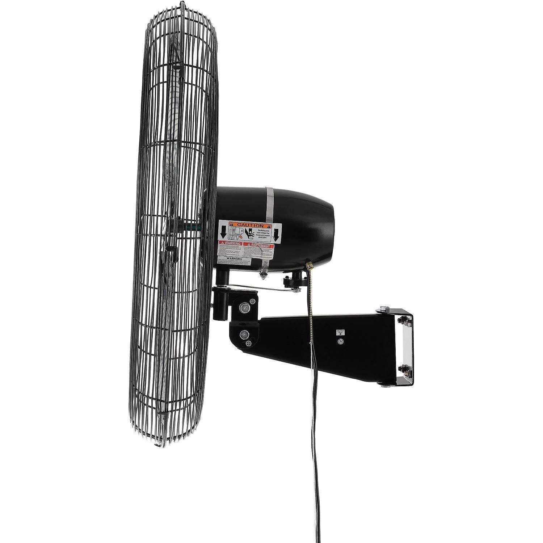 Outdoor Oscillating Wall Mounted Fan, 30 Diameter, 3 10hp, 8400cfm
