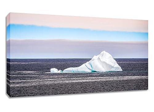 Iceberg Large Panoramic Canvas Wall Art Newfoundland Photography Print Amazon Ca Handmade