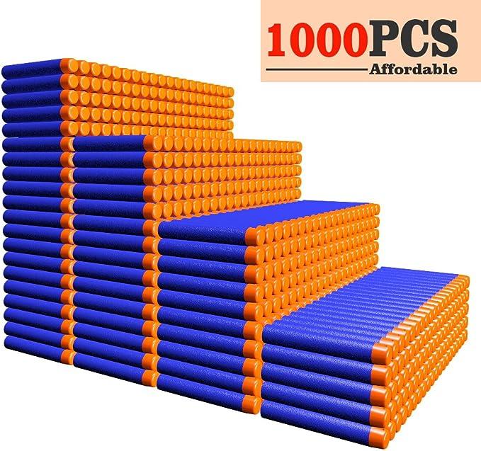 AMOSTING Refill Darts 1000PCS Ammo Bulk Bullets Pack for Nerf N-Strike Elite Series – Blue